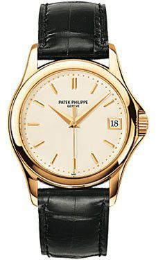 Patek Philippe Calatrava Watches. 37mm 18K yellow gold case, sapphire crystal back, screw-down crown, silvery gray dial with gold applied hour markers, self winding caliber 324 S C movement with date