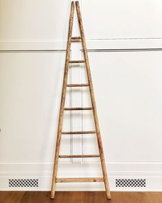 Beautiful old and tall French apple picking ladder with a gorgeous patina. Antique Ladder, Ladders, Apple, French, Antiques, Beautiful, Stairs, Apple Fruit, Antiquities
