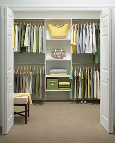 walking closet | vestidor por colores