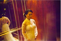 vietnamese wedding ao dai. Always thought I would get mine in red, but this is really beautiful