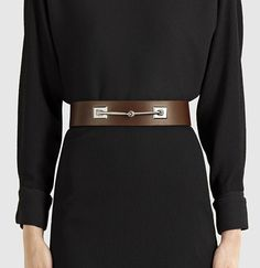 leather horsebit waist belt