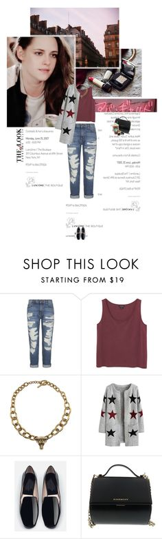 """""""Untitled 3504..."""" by thplacebo ❤ liked on Polyvore featuring Current/Elliott, Monki, Burberry, Zara, Givenchy and Chanel"""