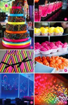 Veja ideias e inspirações para festa de 15 anos com tema neon