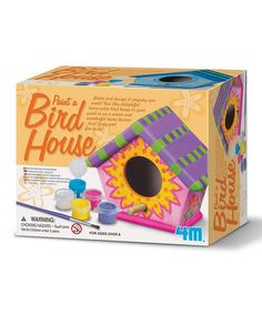 Look at this #zulilyfind! Paint a Birdhouse Kit by 4M #zulilyfinds