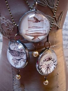 Soldered pendants.