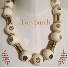 Tory burch new without tags Very stylish gold and white necklace retails at 240 great deals? trade value is 200 Tory Burch Jewelry Necklaces