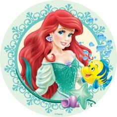 Ariel Round  sc 1 st  Pinterest & Ariel Beautiful Mermaid Party Paper Plates | Mermaid party theme ...