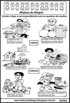 Avaliação sobre lixo e reciclagem 1º ano