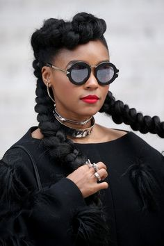 Inspirational Janelle Monae Natural Hairstyles 2017 | Blackhairlab.com