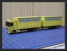 Truck Paper Model Papercraft | 3D Paper Car, Truck, Bus, trolley + Accessories on Pinterest | Paper ...