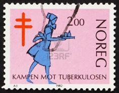 Norway, Nurse, Fight against Tuberculosis, ca 1982