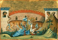 Painting of Ignatius of Antioch from the Menologion of Basil II (c. 1000 AD)