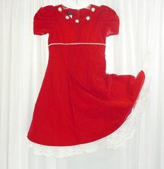 Portrait Dress Girls Heirloom Red by Voilavintagelingerie on Etsy