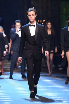 My baby walking in the dolce and gabbana fashion show