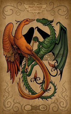 The Phoenix and the Dragon by *Nightlyre