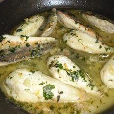 Filetti di gallinella al limone e prezzemolo