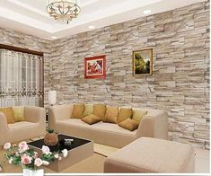 New Wall Stone Interior Design Ideas Master Bedroom Interior, Interior Walls, Home Room Design, Living Room Designs, Stone Interior, Interior Design, Casa Loft, Living Room Decor Inspiration, Tv Wall Decor