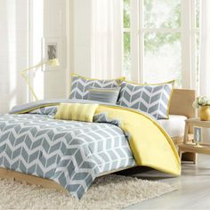 Chevron Print Comforter Set Size Twin Extra Long Bedding