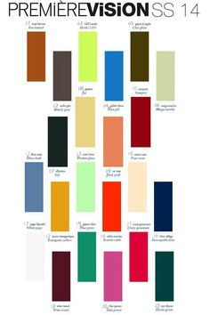 New fashion colors spring/summer2014