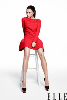 Victoria Beckham knows how to make a red dress WORK for her - Great inspiration for Valentine's Day this year.