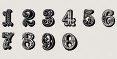 freebie: commercial use vintage numbers Vintage Numbers, Vintage Fonts, Vintage Typography, Graphics Vintage, Vector Graphics, Sign Writing, Writing Numbers, Free Cursive Fonts, Font Free