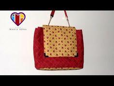 Bolsa de tecido Maitê - Maria Adna Ateliê - Cursos e aulas de bolsas de tecido…