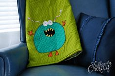 Monster Quilt with Mr. Chompers applique