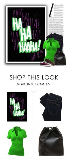 """""""The Joker"""" by ameve ❤ liked on Polyvore featuring Polo Ralph Lauren, 3.1 Phillip Lim and Converse"""