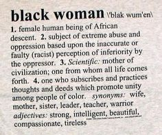 A definition of a black woman