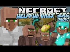 Annoying villagers minecraft animation minecraft pinterest minecraft helpful villagers mod create a villager army mod showcase video sciox Images