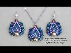 Magical Magatamas Beaded Earrings and Pendant Tutorial - YouTube