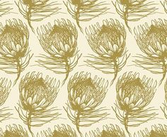 King Protea </br> Prime Lime CB on Parchment King Protea, Armchair, How To Draw Hands, Lime, Cushions, Fabric, Prints, Color, Ideas