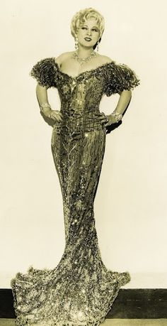 Mae West as 'Lady Lou' - 1933 - Dress Design by Edith Head - 'She Done Him Wrong' - Director: Lowell Sherman - @Mlle