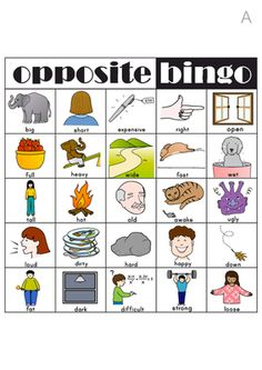 Opposite Bingo from OneTwoThree on TeachersNotebook.com -  (8 pages)  - Opposite Bingo