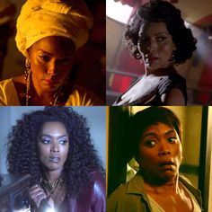 Angela Basset - American Horror Story 1. Marie Laveau 2. Desiree Dupree 3. Ramona Royale 4. Lee Harris
