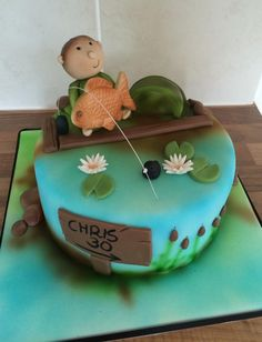 easy fishing cake - Google Search
