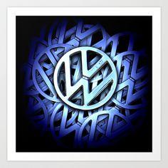 Volkswagen Logo, Vw, Badge, Art Prints, Cool Stuff, Art Impressions, Badges, Fine Art Prints, Art Print