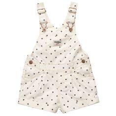 POPLIN POLKA DOT SHORTALLS | Baby Girl Overalls & Jumpers