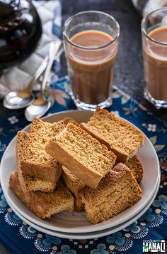 Crispy twice baked toasts, rusks are best enjoyed with chai! Find the recipe on www.cookwithmanali.com