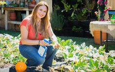 FROM STAY AT HOME MOM TO TV LANDSCAPE DESIGNER Landscape and edible garden designer, Shirley Bovshow teaching how to grow pumpkins on the Home & Family show on Hallmark channel. &nb…