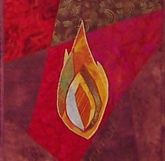 Pentecost - pieced then appliqued - The backround of this is definitely the kind of thing we're after