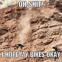 Downhill Bike, Mtb Bike, Bike Meme, Bike Humor, Mountain Bike Action, Mountain Biking Quotes, Big Mountain, Cycling Memes, Cycling Quotes