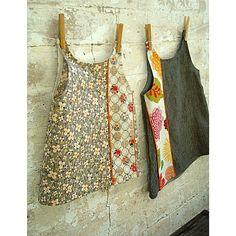 combine fabrics vertically, add piping