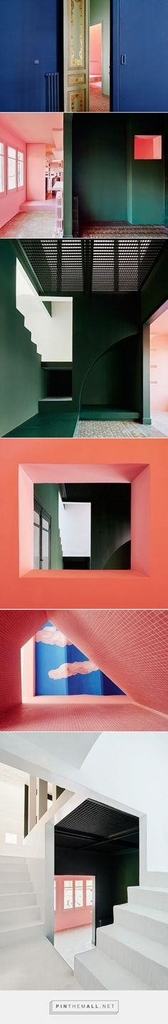 A Designer's Barcelona Home, Where Color is King - Sight Unseen - created via https://pinthemall.net