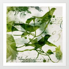 Birds (square 3) Art Print by mrcup - $15.90
