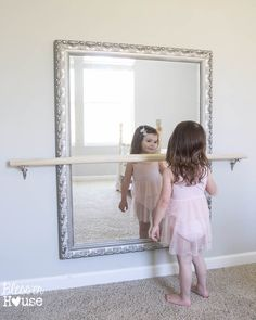 Just in case we have any future ballerina's~~DIY Ballet Barre and How to Hang a Heavy Mirror | Bless'er House