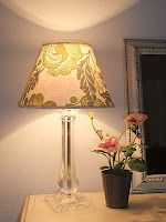 How to Cover a Plain Lampshade to Match Your Decor by Just Another Hang Up