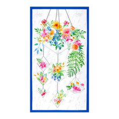 """Boho Bouquet 24"""" Panel White - Fabric.com White Paneling, Fabric Panels, Printed Cotton, Cotton Fabric, Sewing Projects, Bouquet, Quilts, Boho, Crafts"""