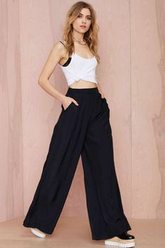 After Party Vintage Tori Wide Leg Trouser | Shop Clothes at Nasty Gal!