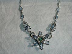 vintage bezel set flat blue topaz crystal by qualityvintagejewels, $65.00